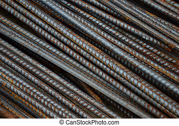 iron rods - detailed texture and pattern of iron rods...
