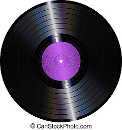 Vinyl record - An illustration of an isolated lp vinyl...