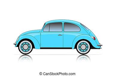 compact blue car