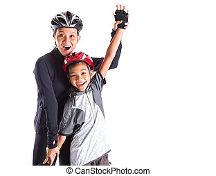 Mother and Daughter Cycling Attire - Mother and daughter...