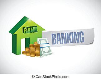 banking sign illustration design