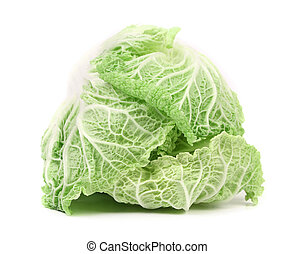 Tasty Chinese cabbage. Isolated on a white background.