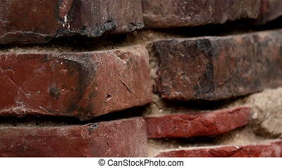 Old red brick wall - Brick wall. An image of the brick wall...