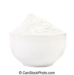 Bowl of wheat flour.