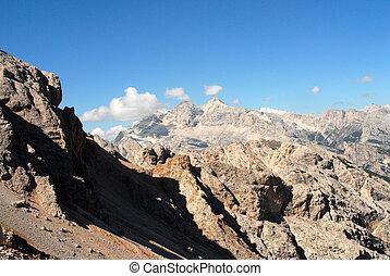 Dolomites, Italy - panorama - Landscape view of Dolomites...