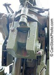 breech Russian 85-mm anti-aircraft gun