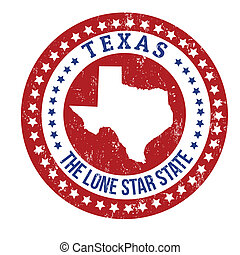 Texas stamp - Vintage stamp with text The Lone Star State...
