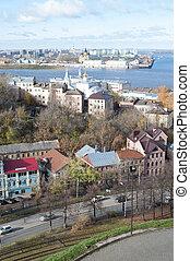 panorama of Nizhny Novgorod with volga river