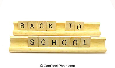 Back to School Tiles - Tiles spelling out Back To School...