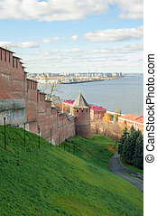 Nizhny Novgorod Kremlin on Volga river
