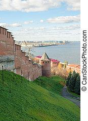 Nizhny Novgorod Kremlin on Volga river