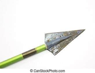 Vintage arrow and broadhead - Old vintage arrow and...
