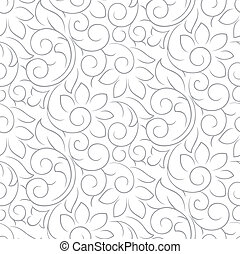 Seamless fancy silver pattern