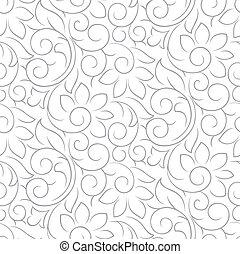 Seamless fancy silver pattern