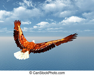 Sea Eagle - Computer generated 3D illustration with a Sea...