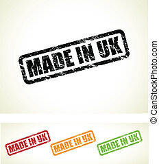 made in uk stamps - set of made in the uk stamps