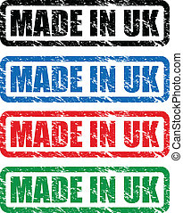made in uk stamp - set of made in uk stamps