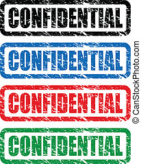 confidential stamps - set of confidential stamps