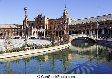 Plaza de Espana - Spanish Square in Seville, Spain