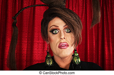 Spaced Out Drag Queen - Spaced out drag queen with unique...