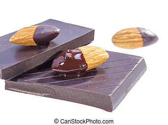 Chocolate almond - Almonds dipped in chocolate over sweet...