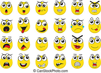 Vector Emoticons - This is a simple, clean and elegant set...