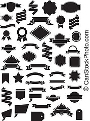 Ribbon and Label vector set for your design