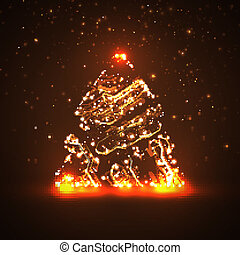 Circuit board background, christmas tree - Circuit board...