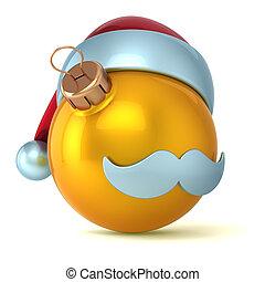 Christmas ball Santa Claus golden