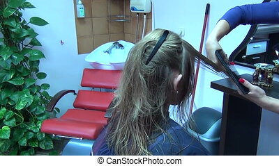 hair tips cut - professional hairdresser comb responsible...