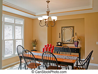 Dining Room - The Dining Room of an Expensive Home