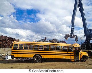 Home Bus at Junk Yard