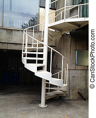 Spiral Staircase of Metal - This spiral staircase connects...