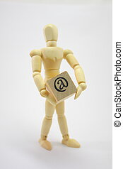 3D Man Holding at Box - 3D Man Holding a box with the at...