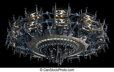 science, fiction, vaisseau spatial