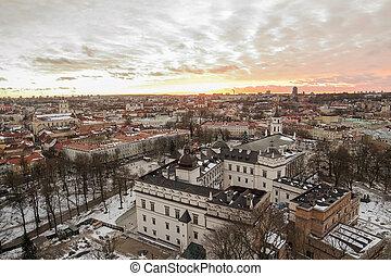 Vilnius in winter - Lithuania. Winter Vilnius in the sunset....