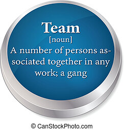 EPS 10 Vector of dictionary term of team word