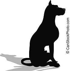 stock vector of dog silhouette on white background
