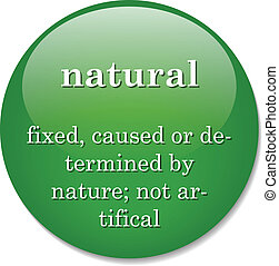 dictionary definition of the term natural