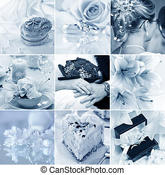 Wedding collage - Beautiful collage of nine wedding motives...