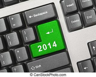 2014,  computer, chiave, tastiera