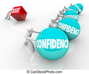 Confidence on balls rolled by winning people while one...