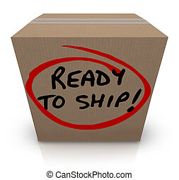 Ready to Ship Cardboard Box Mailing Package Order In Stock -...