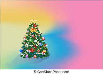 background with Christmas tree,