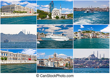 Istanbul - View of Istanbul as seen from Bosphorus, Turkey