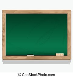 Class board with chalk vector Eps 10
