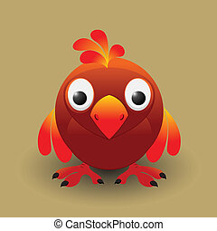 Cute baby bird - Cute cartoon baby bird