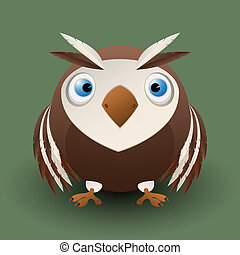 Cute baby owl - Cute cartoon baby owl