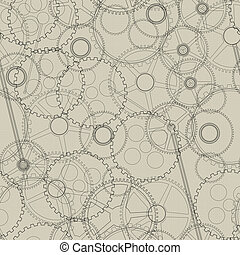 Seamless mechanical gear - Seamless pattern, texture with...