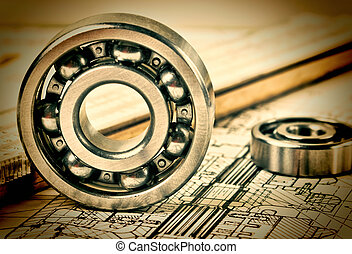 mechanical   bearing - mechanical scheme and bearing